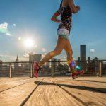 Läuferin Skyline New York