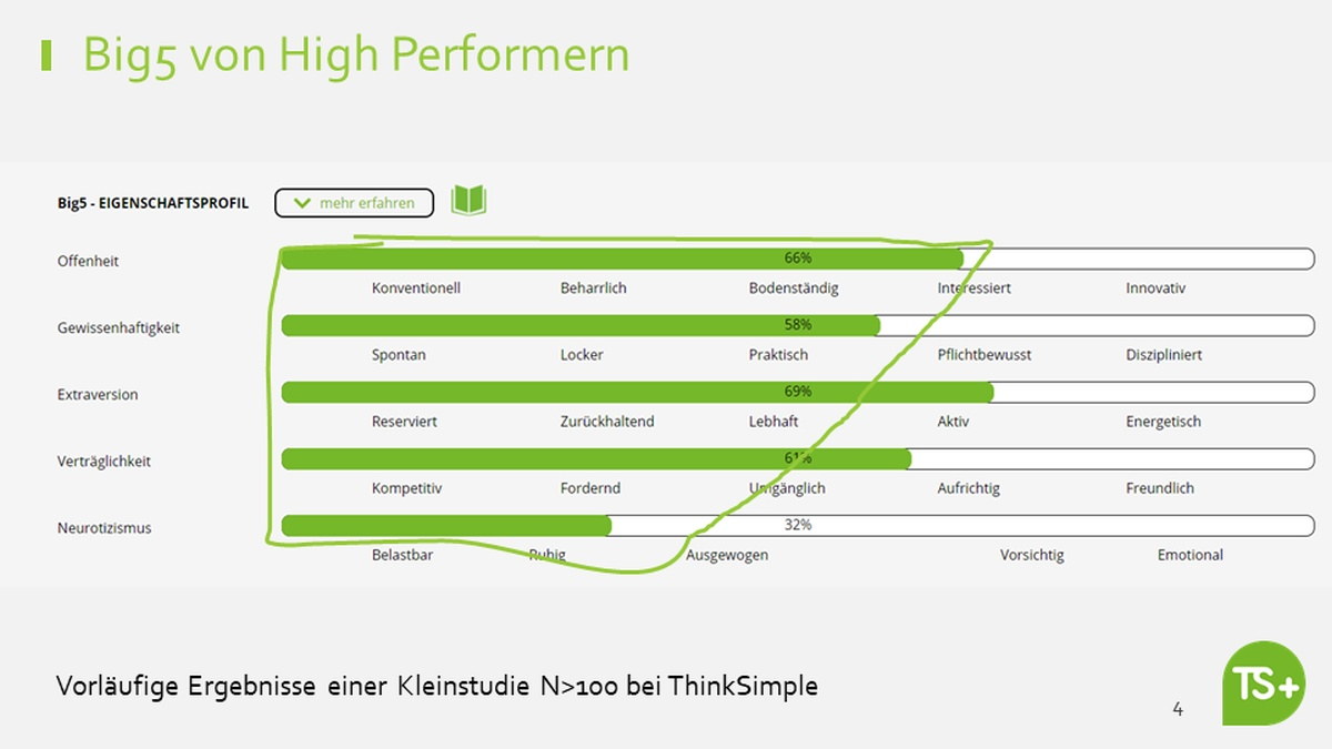 Grafik Big 5 High Performer