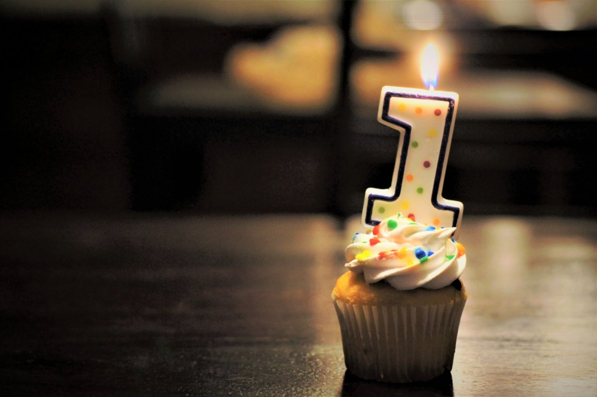 Foto Geburtstags-Cupcake